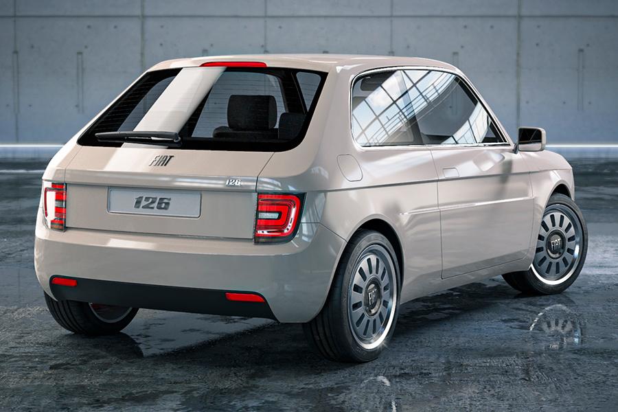 Fiat 126 Vision Rückansicht