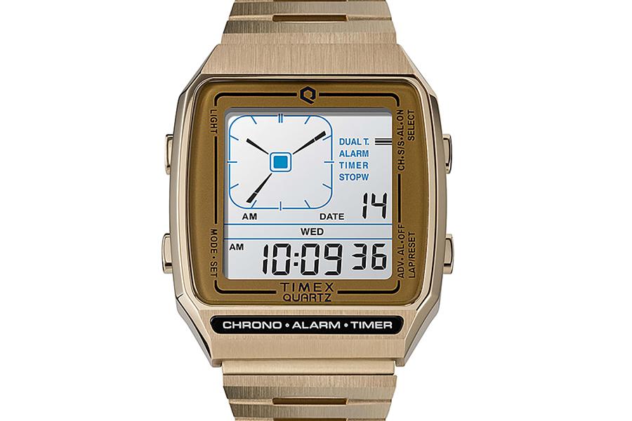 Timex Q Reissue mit Digital LCA belebt die 80er Jahre