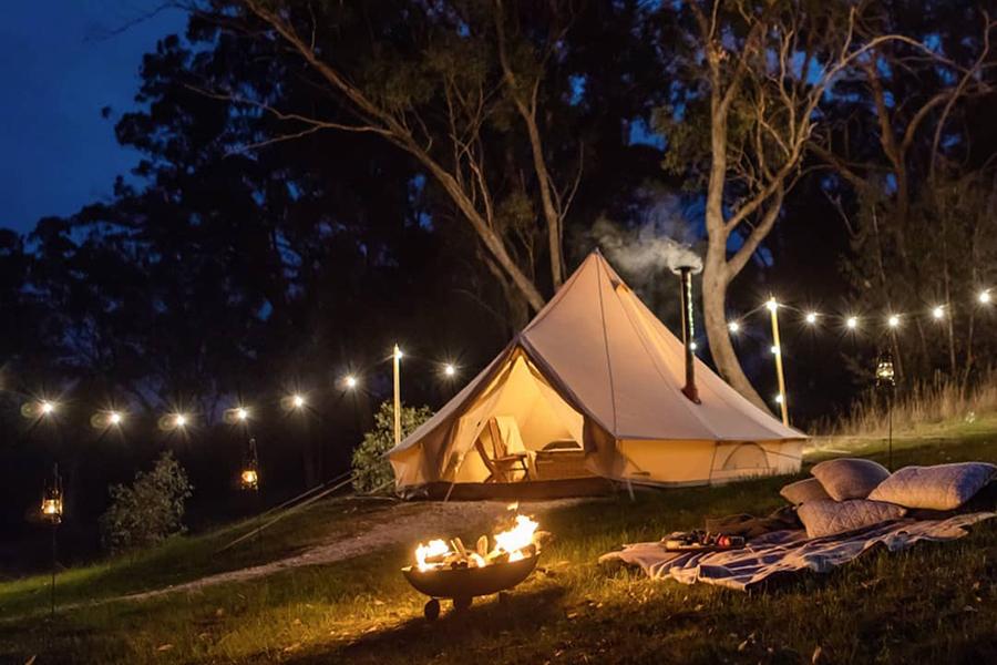 Gemütliche Zelte Glamping Melbourne