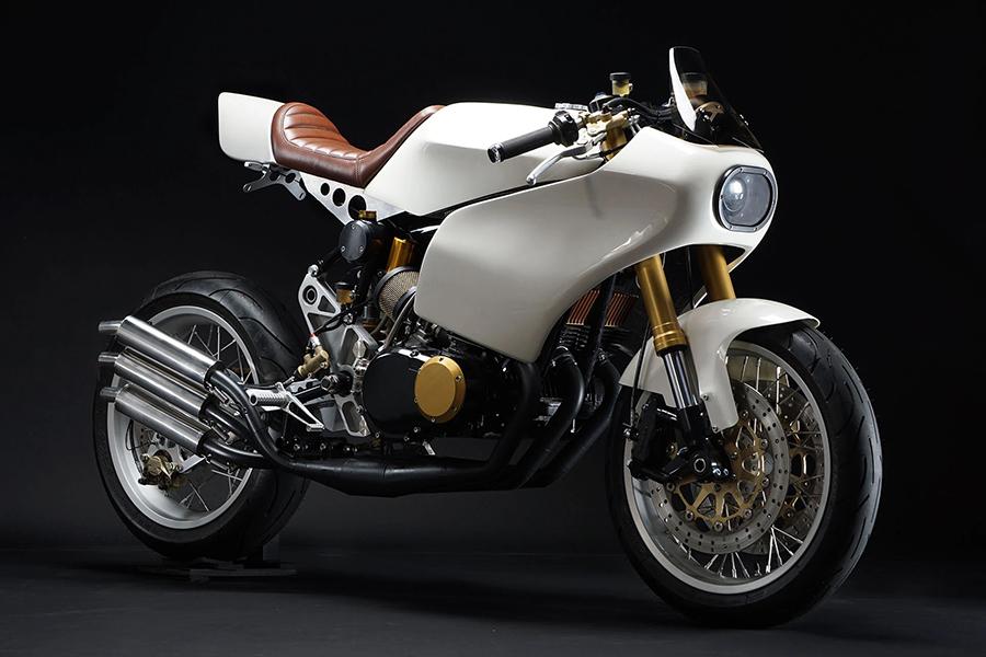 Motoworks Custom Suzuki GT380 erzielt ein High-Tech-Redesign