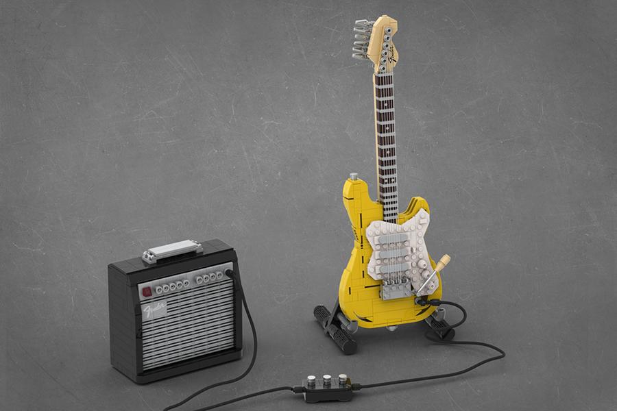 Lego Stratocaster Gitarre
