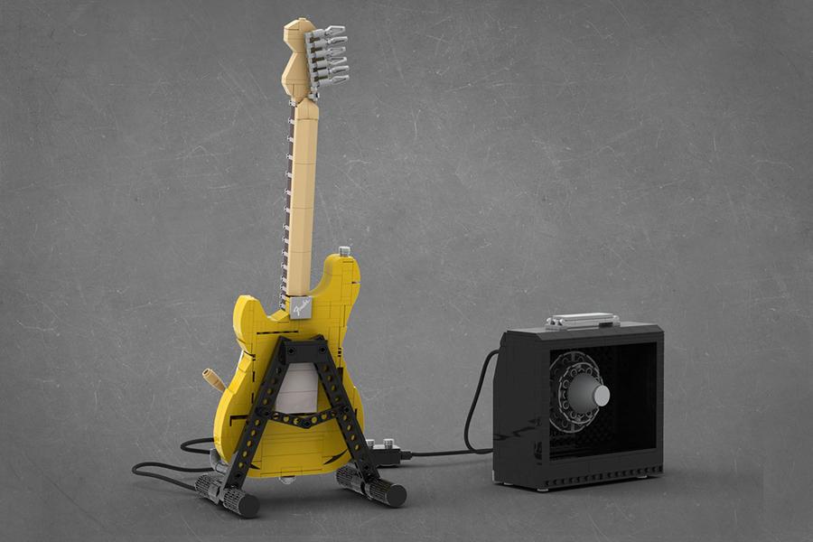 Lego Stratocaster zurück