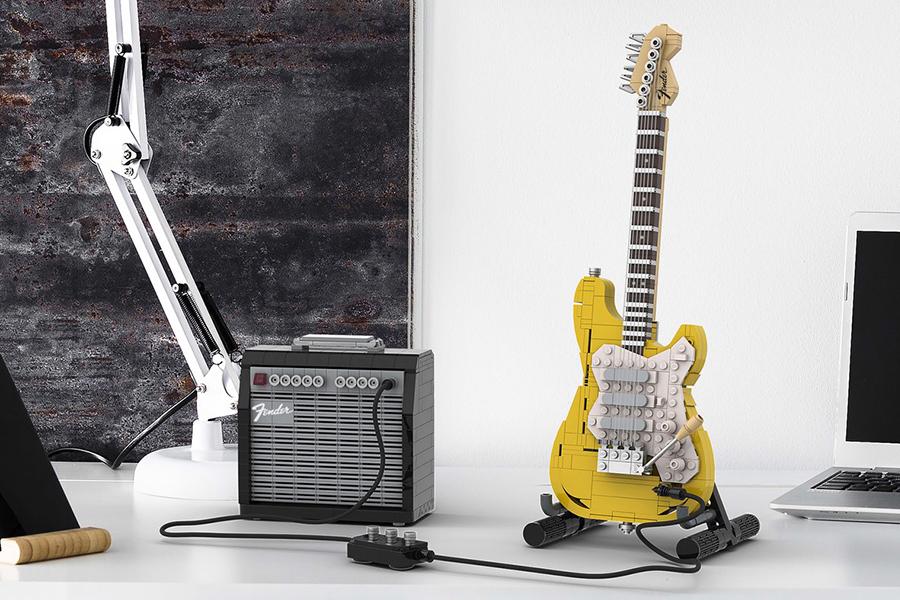 Riff einen neuen Sound mit der LEGO Fender Stratocaster