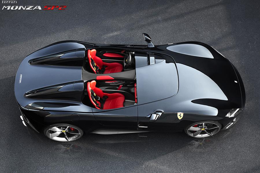 Ferrari Monza SP2 Draufsicht