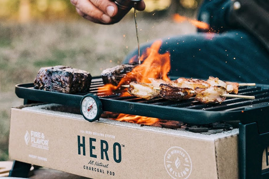 Christmas Gift Guide Outdoorsman Fire & Flavor Portable Eco-Friendly Hero Grill System