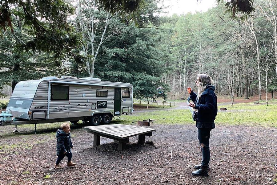 Kostenlose Campingplätze im Melbourne Mount Franklin Reserve