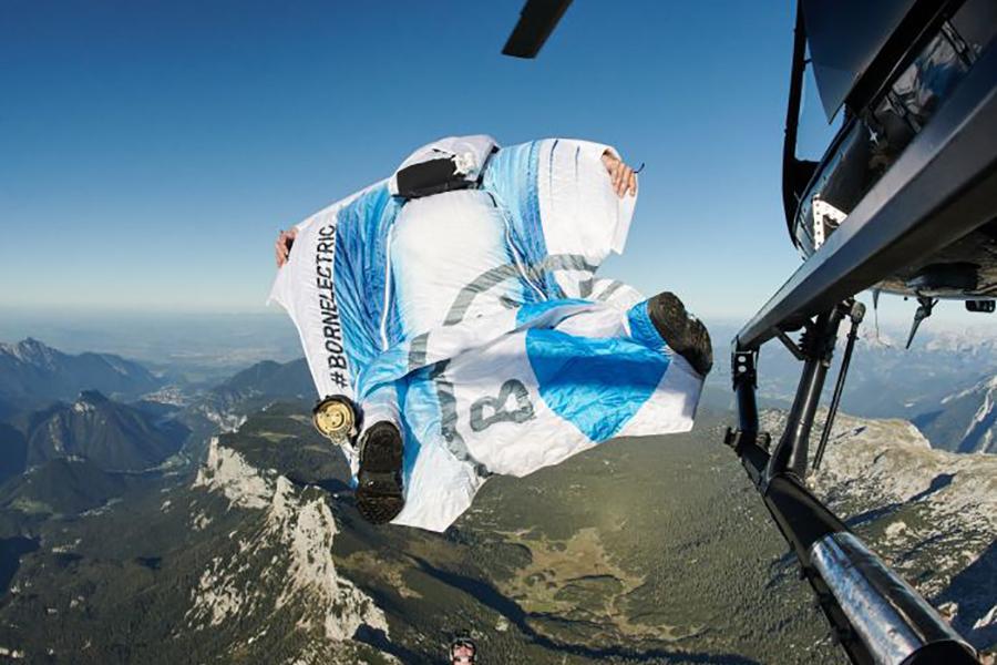 Peter Salzman BMW Electrified Wingsuit Sprung