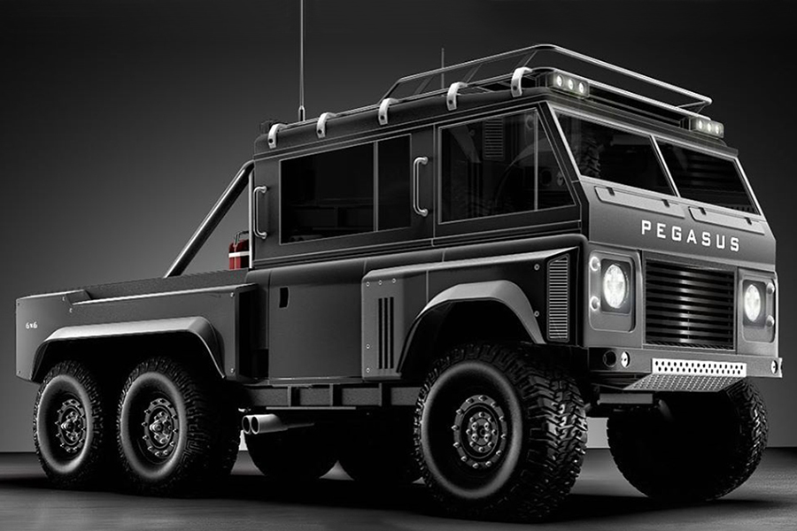 Pegasus '6-Rad Land Rover Defender ist nicht wiederzuerkennen