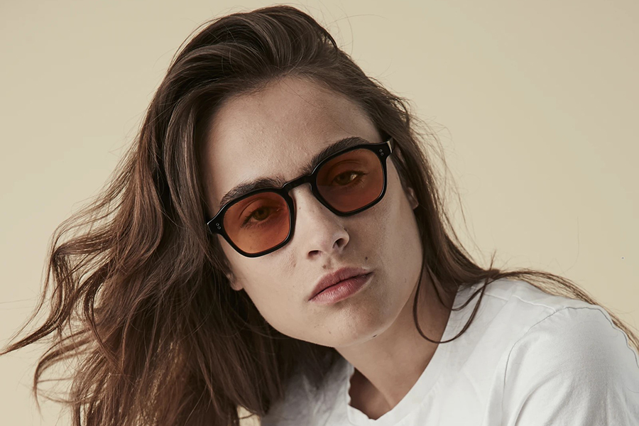Pacifico Optical Lucius Black with Orange Lens Christmas Gift Guide For Her
