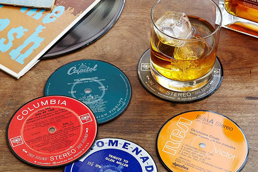 Upcycled Record Coasters Weihnachtsgeschenk Guide Musikliebhaber