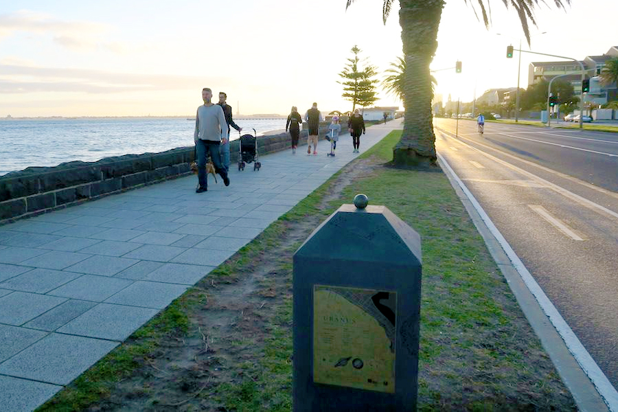 Wanderweg Melbourne - Port Melbourne nach St. Kilda