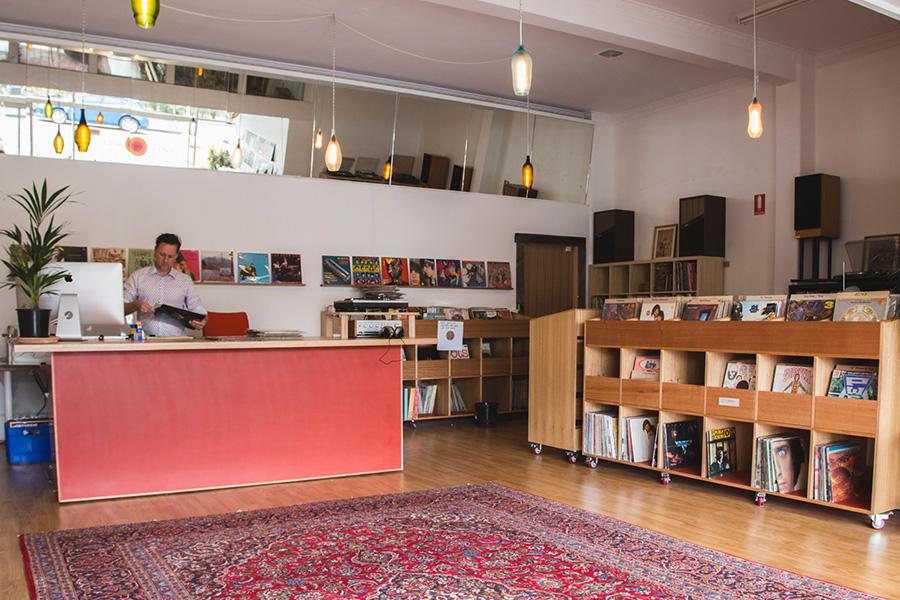 Niederländischer Schallplattenladen