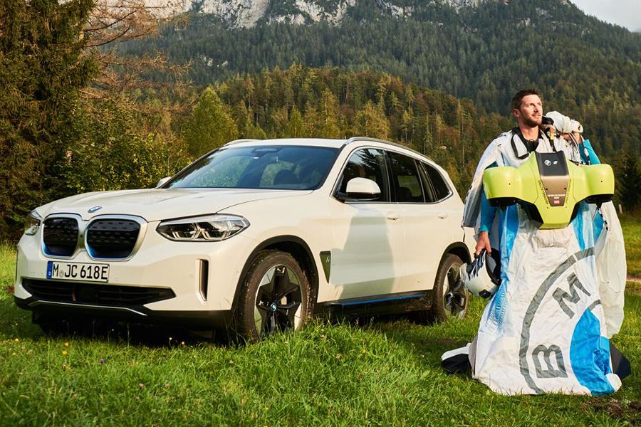 Peter Salzman BMW Electrified Wingsuit Auto