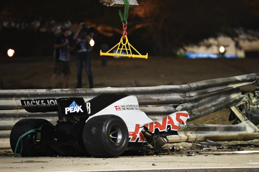Grosjean Crash 4