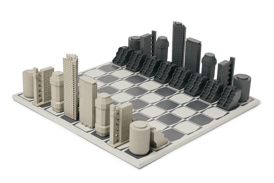 Beste Schachspiele - Skyline Chess - London Brutalist Edition
