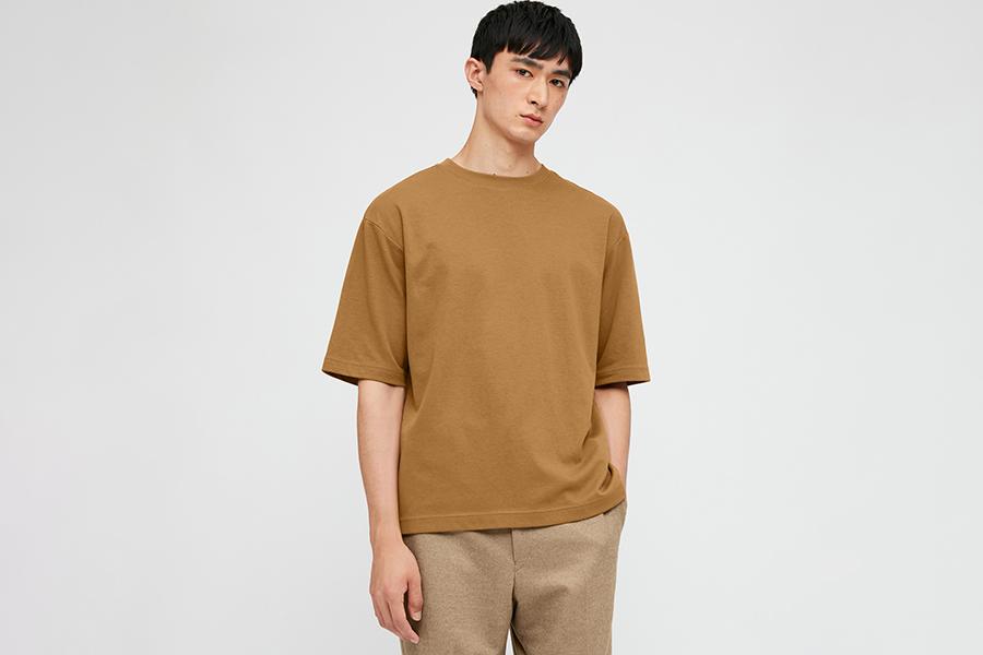 Uniqlo U Men's AIRism Cotton Crew Neck Oversized T Shirt Christmas Gift Guide Stylish Man