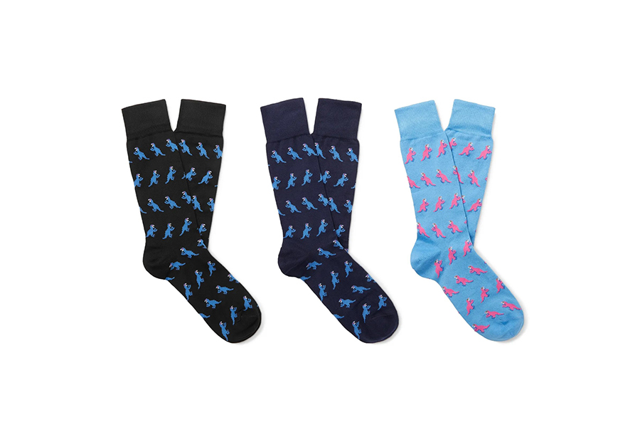 Paul Smith Three-Pack Stretch Cotton-Blend Jacquard Socks Christmas Gift Guide Stylish Man