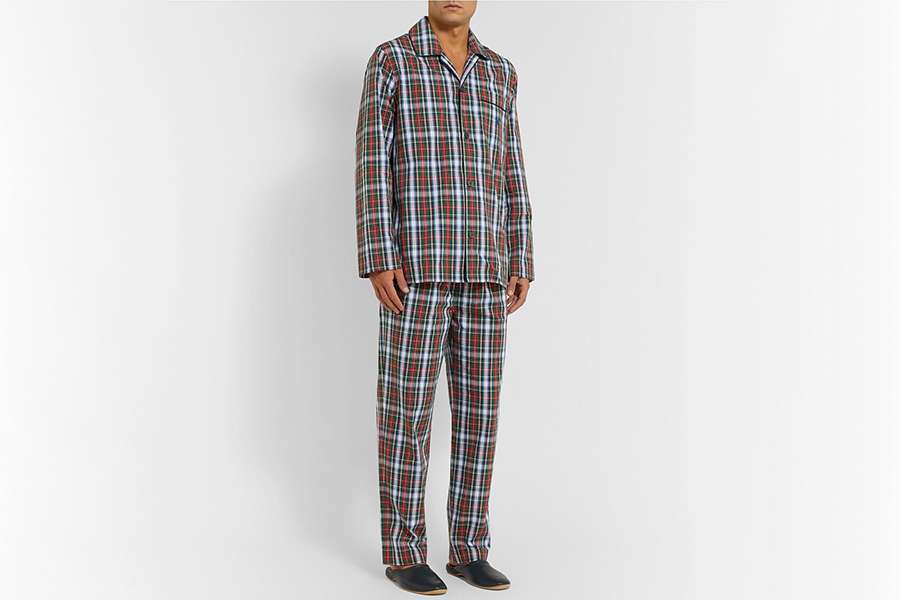 Polo Ralph Lauren Checked Cotton-Poplin Pyjama Set Christmas Gift Guide Stylish Man