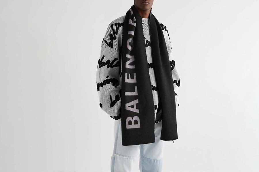 Balenciaga Reversible Intarsia Wool Scarf Christmas Gift Guide Stylish Man