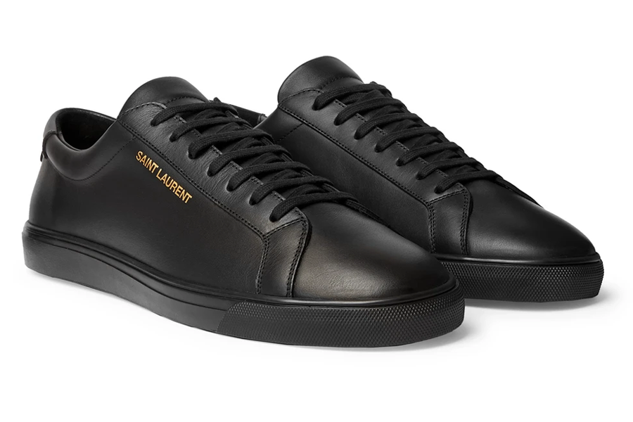 Saint Laurant Andy Leather Sneakers