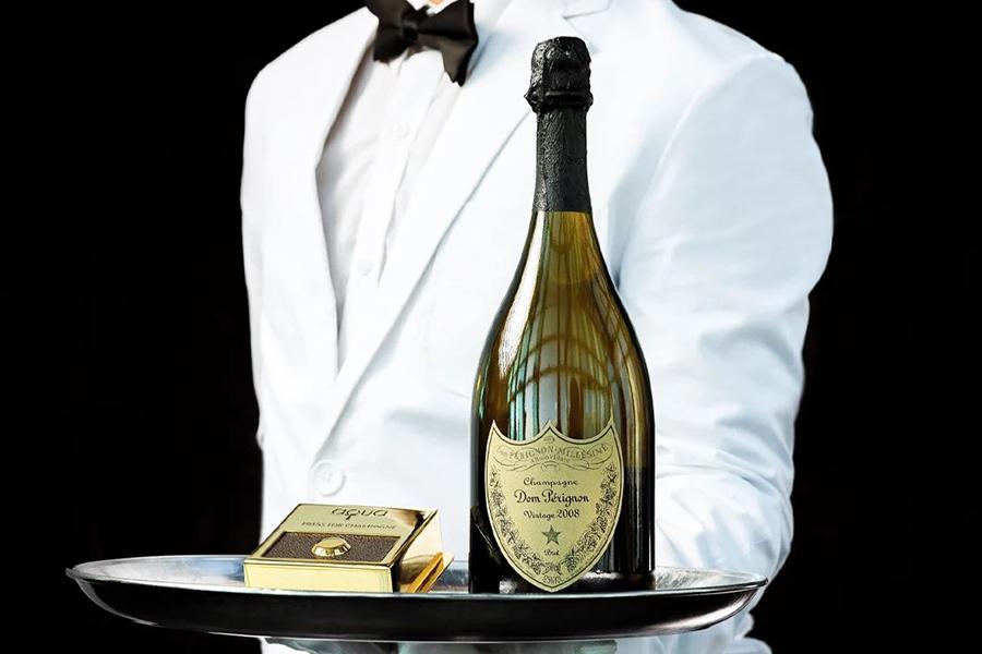 Weihnachtsgeschenkführer Weinliebhaber Dom Pérignon Vintage Champagner