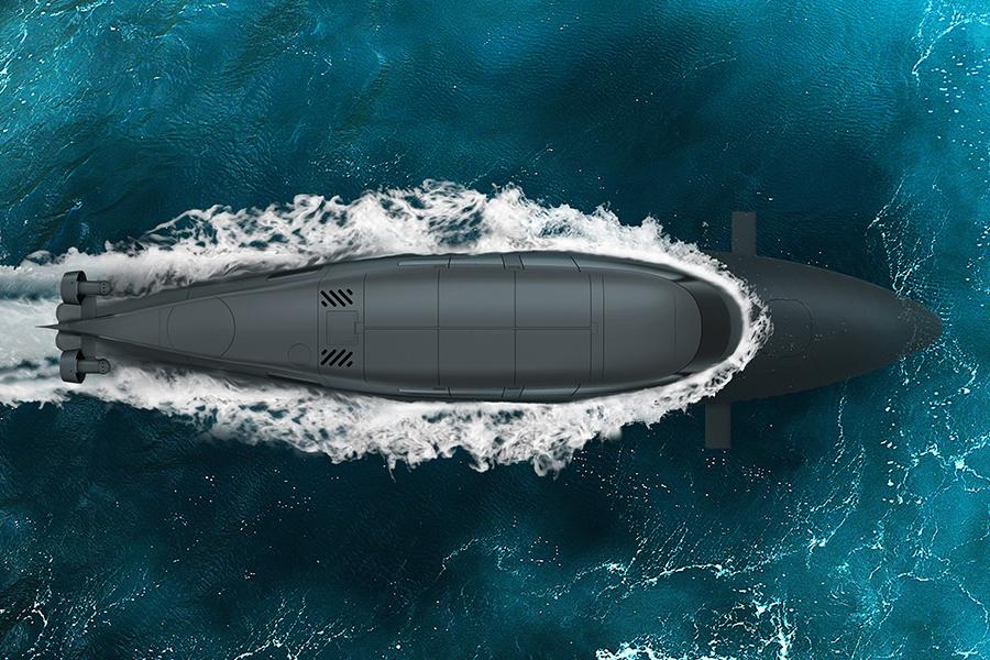 Subsea Victa ist Teil U-Boot, Teil Schnellboot und All Super-Spy
