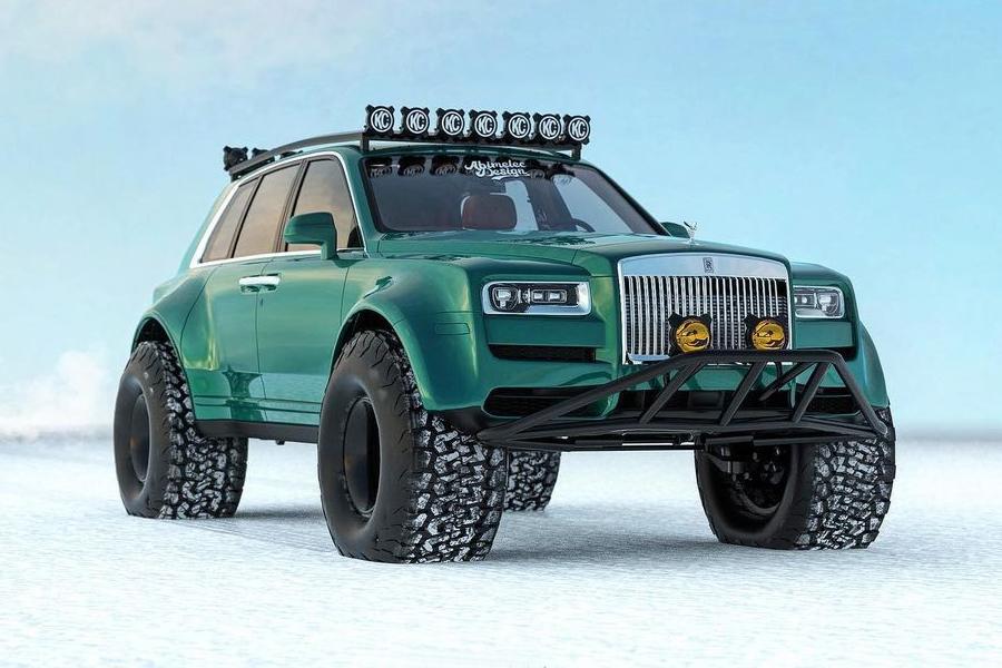 Der Rolls-Royce Cullinan wurde entwickelt, um die arktische Tundra zu erobern