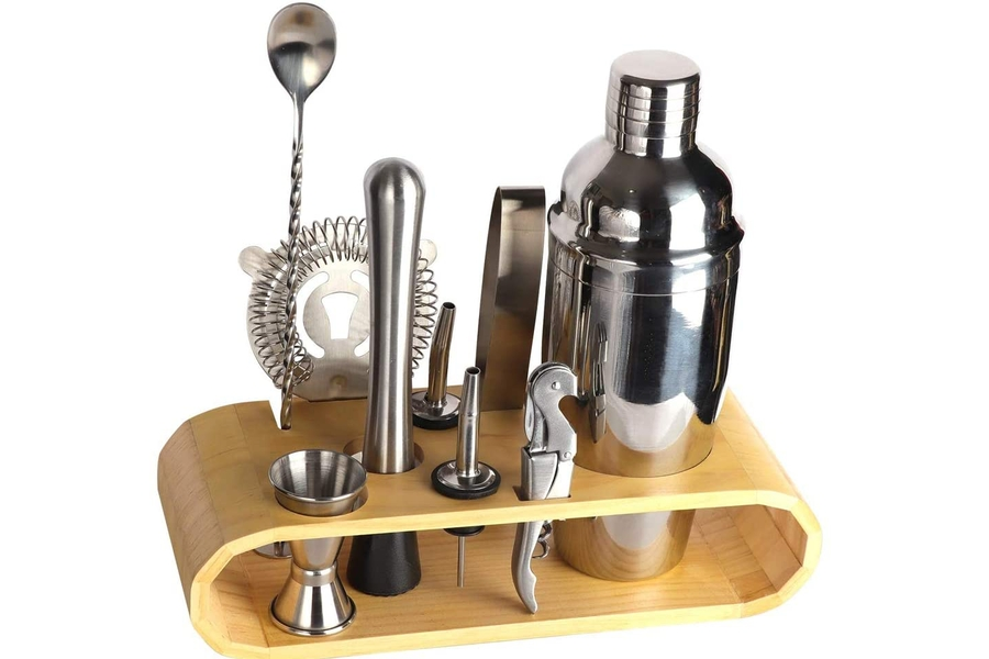 BRITOR Barkeeper Kit mit Ständer | Bar Set Cocktail Shaker Set
