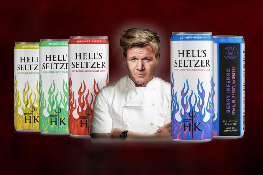 Gordon Ramsay bringt die Hard Seltzer Line seiner eigenen Hölle auf den Markt