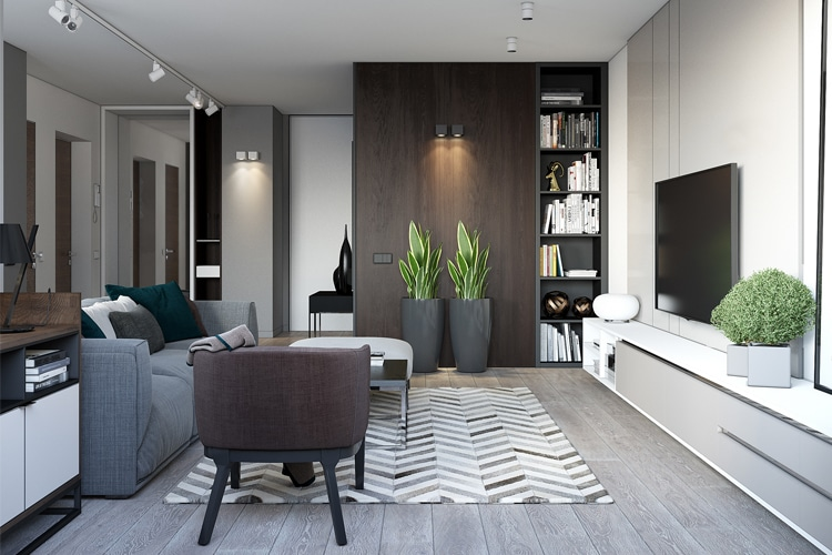 masculine living room interior