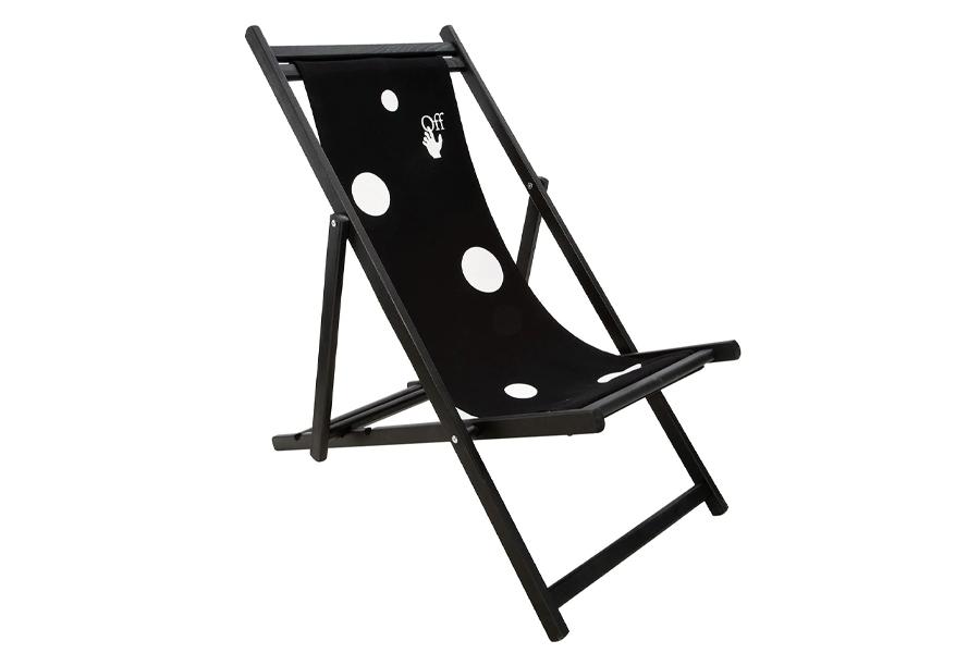 logo print deck chair