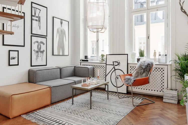masculine living room colour and material wisely