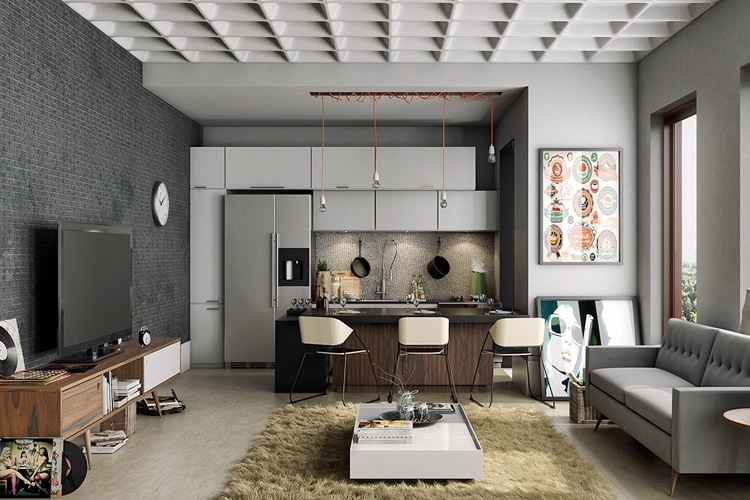 masculine living room ideas desk and chair
