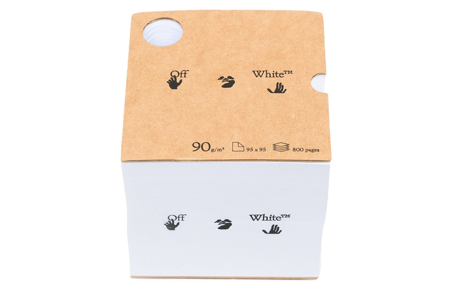 logo print notebook cube