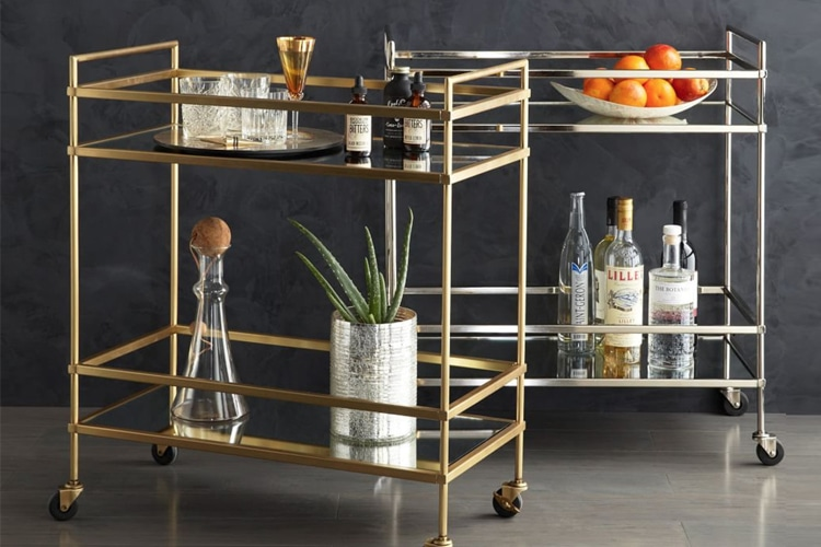 masculine living room keep liquor on hand
