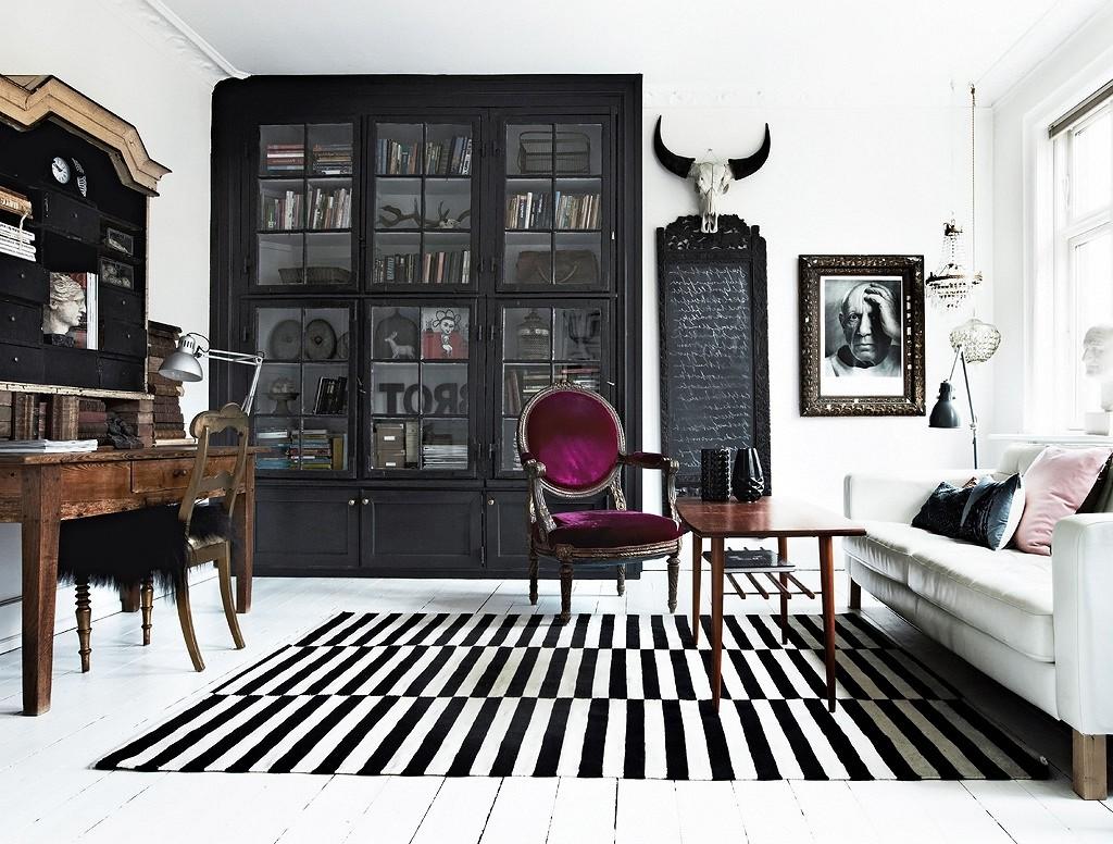 masculine living room black color reck