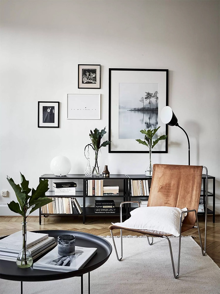masculine living room natural wallmate