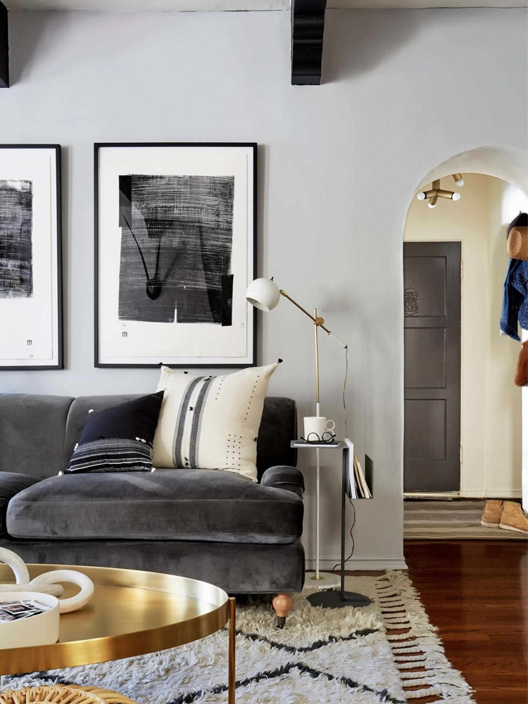 masculine living room pillow table light