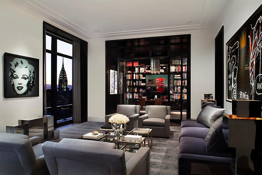 masculine new york living room ideas