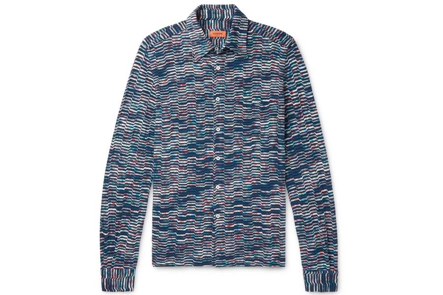 Missoni Space-Dyed Häkel-Baumwollhemd