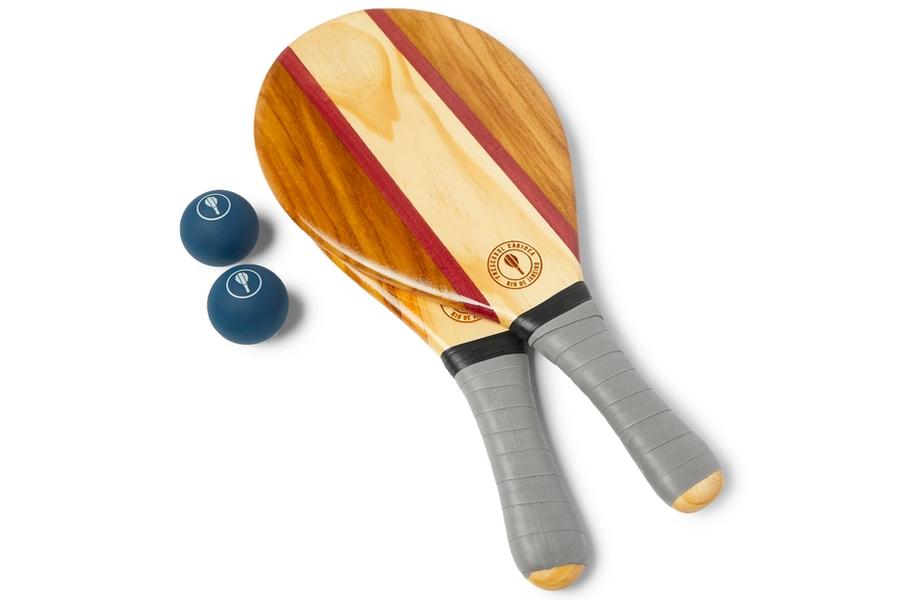 FRESCOBOL CARIOCA Trancoso Strandschläger- und Ballset aus Holz