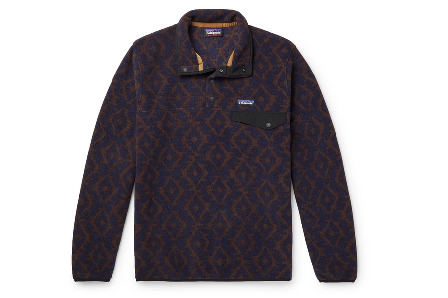 Patagonia Snap-T Bedrucktes Synchilla Fleece Sweatshirt