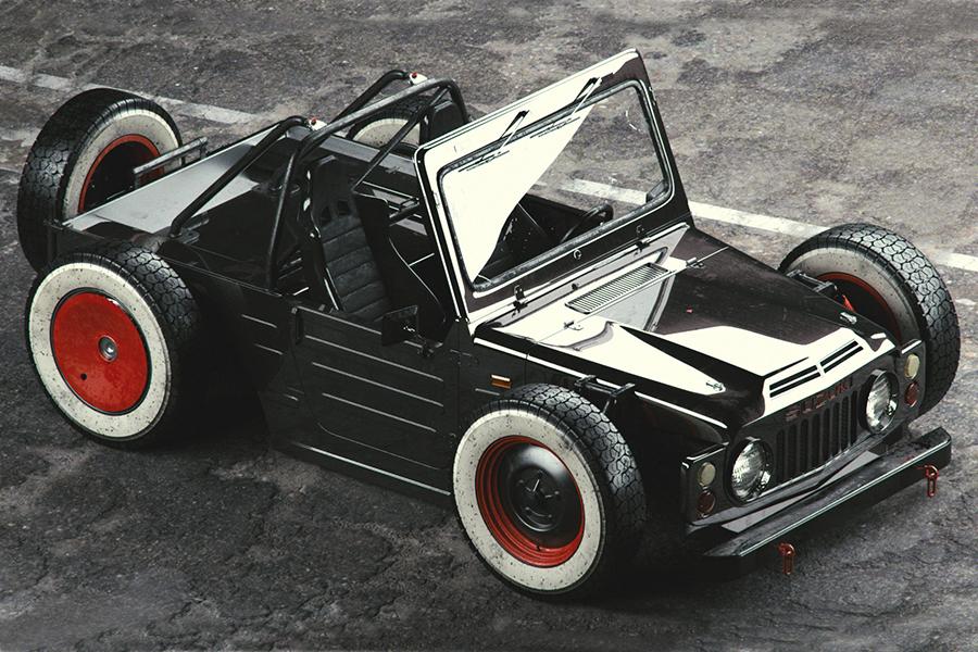 Suzuki Jimny Ratrod 1977 Draufsicht
