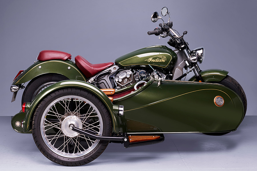 Indian Scout Sidecar aus Frankreich