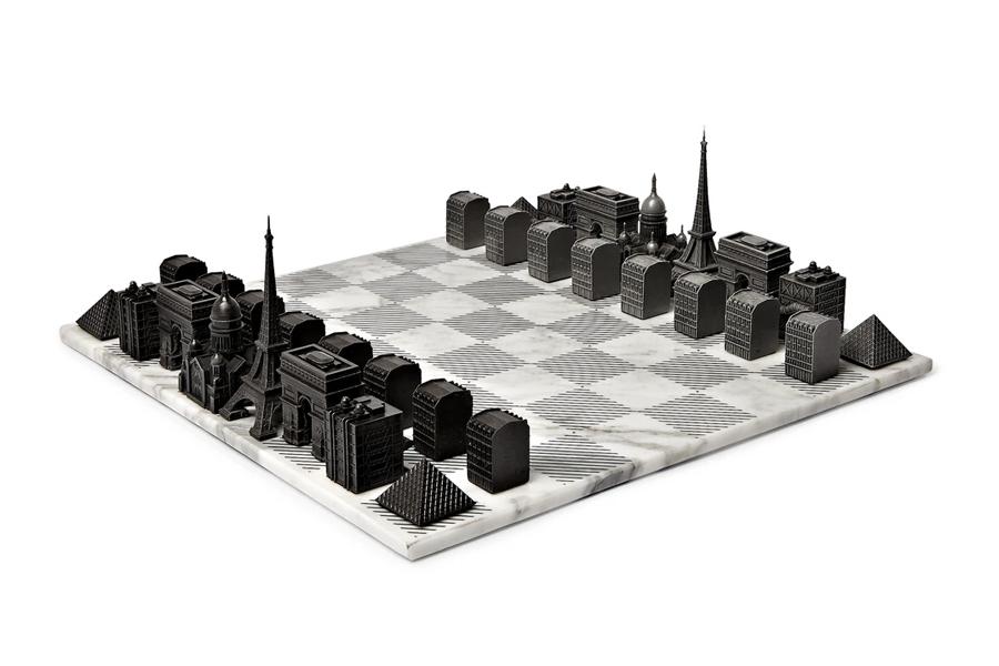 Beste Schachspiele - Skyline Chess - Pariser Marmor und Metall