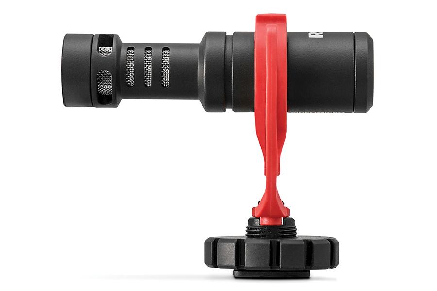 Seitenansicht der RODE Vlogger Kit-Aufhängung