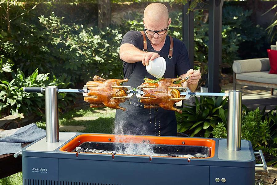 Top 100 Products of 2020 Everdure HUB II Charcoal BBQ