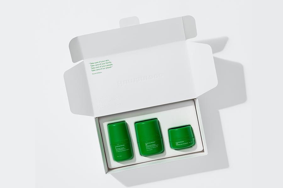 Pharrel Williams Humanrace Hautpflege im Karton
