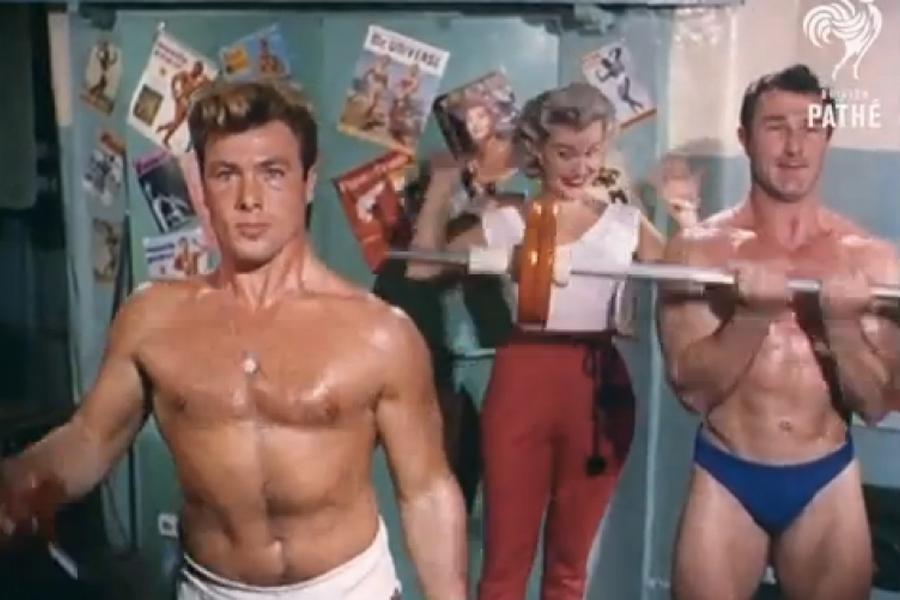 Fitnessstudio der 1960er Jahre