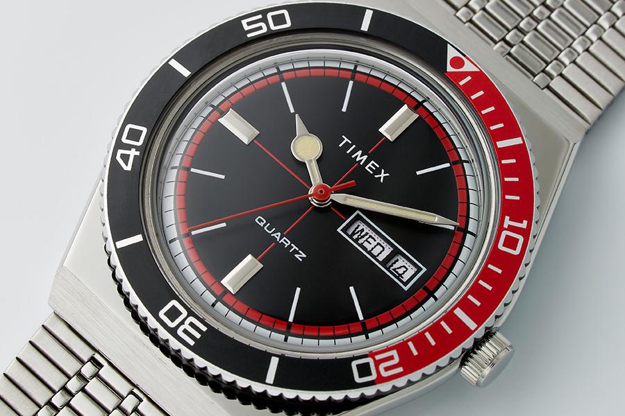 Huckberry x Timex Cola Sportuhr Limited Edition Zifferblatt